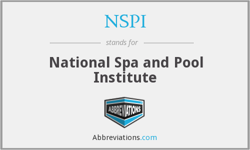 NSPI - National Spa and Pool Institute