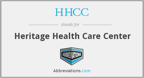 HHCC - Heritage Health Care Center