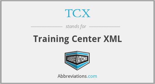 TCX - Training Center XML