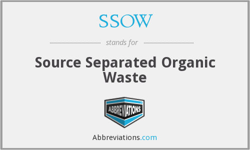 SSOW - Source Separated Organic Waste