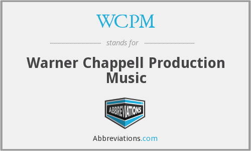WCPM - Warner Chappell Production Music
