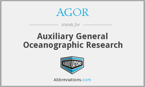 What does AGOR stand for?