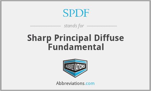 SPDF - Sharp Principal Diffuse Fundamental