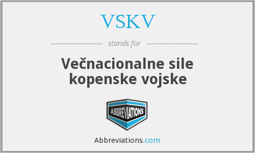 What does VSKV stand for?