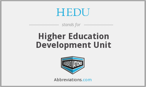 What does HEDU stand for?