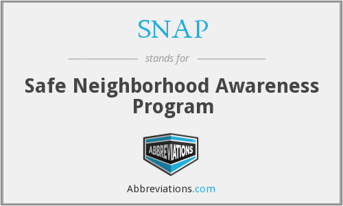 SNAP - Safe Neighborhood Awareness Program