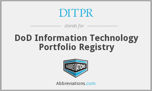 What does DITPR stand for?