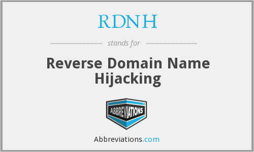 What does RDNH stand for?
