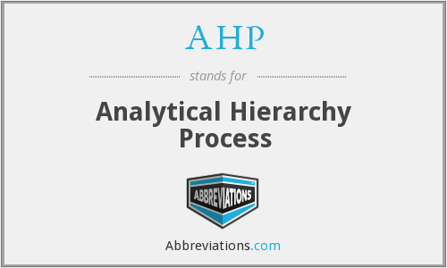 AHP - Analytical Hierarchy Process
