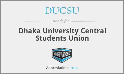 DUCSU - Dhaka University Central Students Union