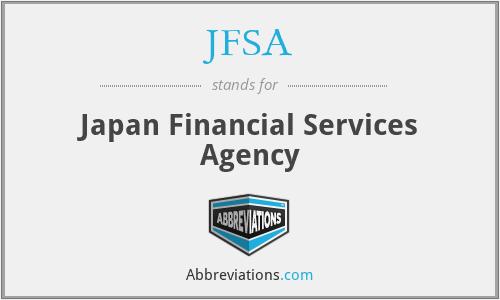 JFSA - Japan Financial Services Agency
