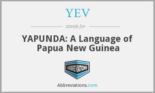 YEV - YAPUNDA: A Language of Papua New Guinea