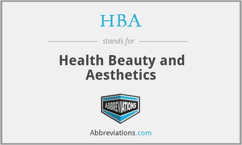 HBA - Health Beauty and Aesthetics