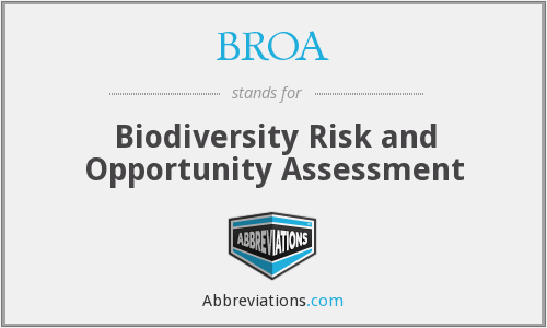 What does BROA stand for?