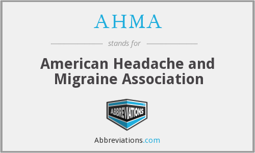 AHMA - American Headache and Migraine Association