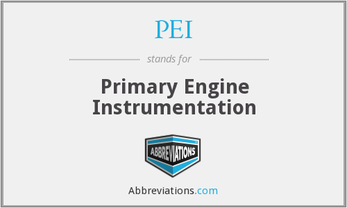 PEI - Primary Engine Instrumentation
