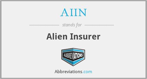 AIIN - Alien Insurer
