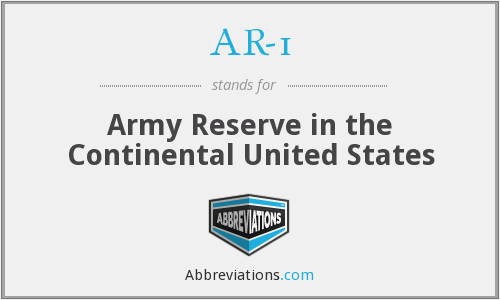 AR-1 - Army Reserve in the Continental United States