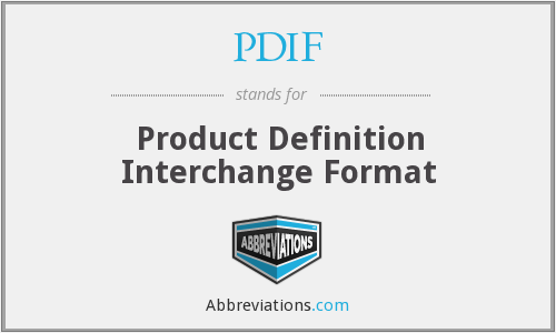 What does PDIF stand for?