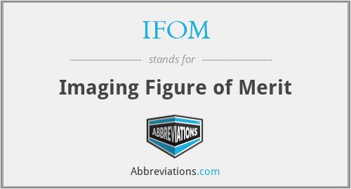 IFOM - Imaging Figure of Merit