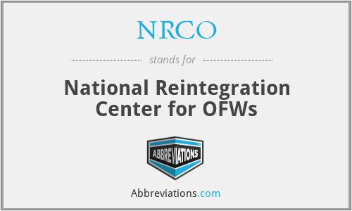 NRCO - National Reintegration Center for OFWs