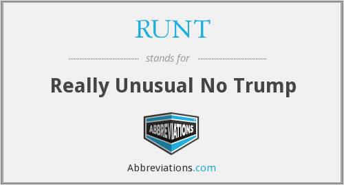 What does RUNT stand for?