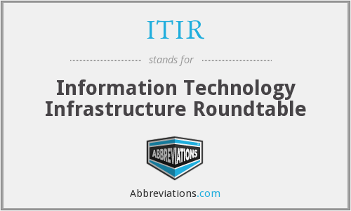 ITIR - Information Technology Infrastructure Roundtable
