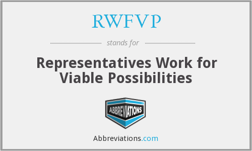 What does RWFVP stand for?