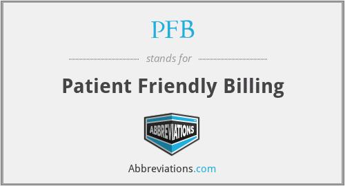 PFB - Patient Friendly Billing