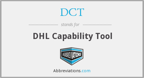 DCT - DHL Capability Tool