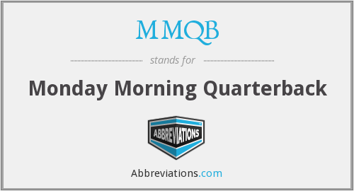 What does MMQB stand for?