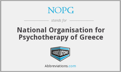 NOPG - National Organisation for Psychotherapy of Greece