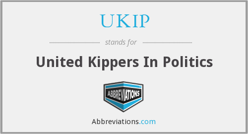 What does UKIP stand for?