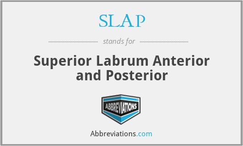 SLAP - Superior Labrum Anterior and Posterior