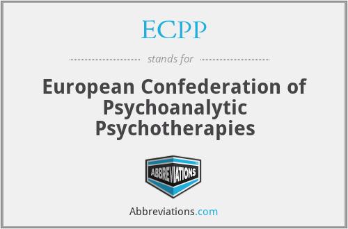 ECPP - European Confederation of Psychoanalytic Psychotherapies