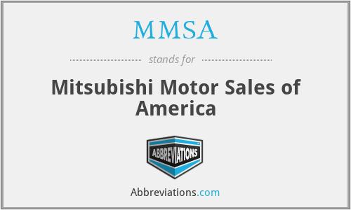 MMSA - Mitsubishi Motor Sales of America
