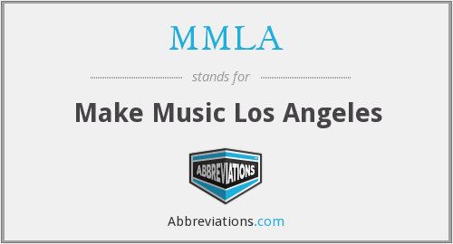 What does MMLA stand for?