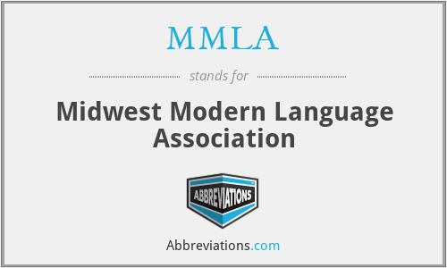 MMLA - Midwest Modern Language Association