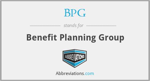BPG - Benefit Planning Group