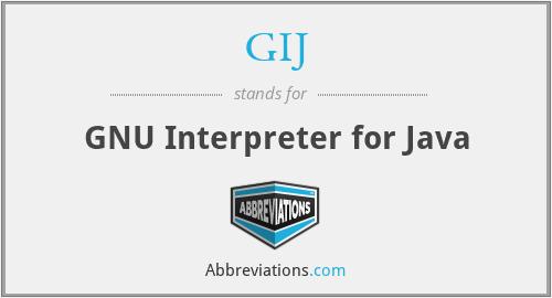 GIJ - GNU Interpreter for Java