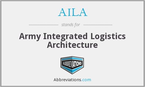 AILA - Army Integrated Logistics Architecture