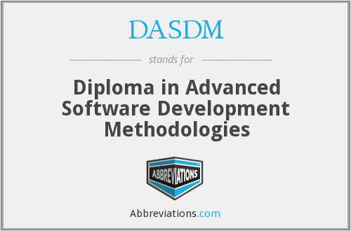 What does DASDM stand for?