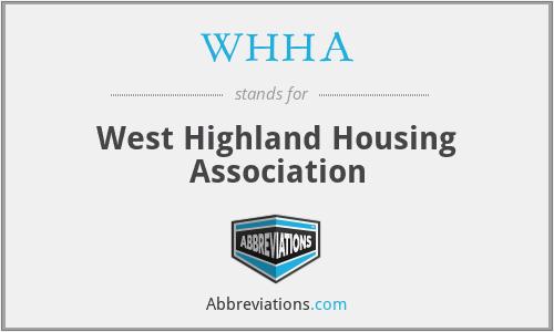 WHHA - West Highland Housing Association