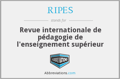 What does RIPES stand for?