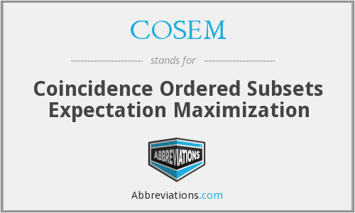 What does COSEM stand for?