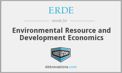 What does ERDE stand for?
