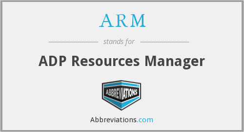 ARM - ADP Resources Manager