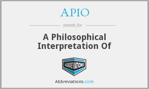 What does APIO stand for?