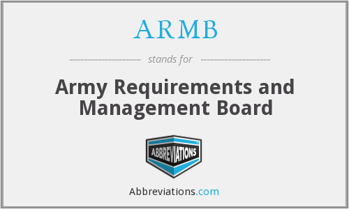 What does ARMB stand for?