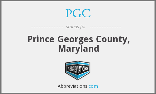 PGC - Prince Georges County, Maryland